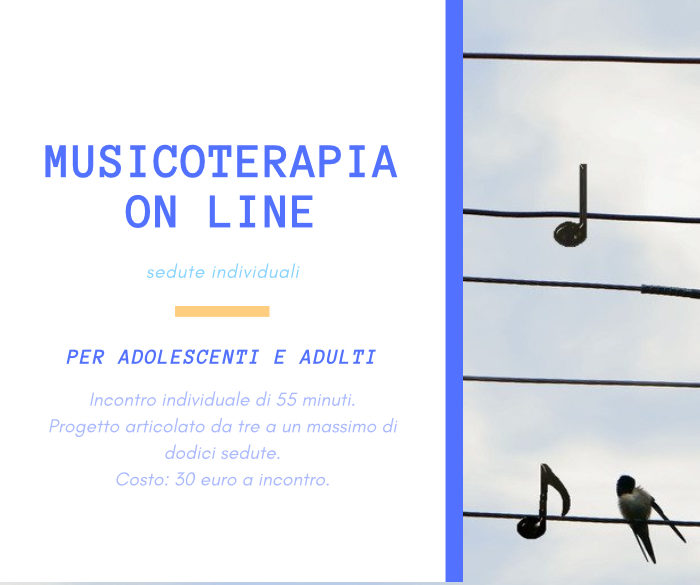 Novità! Musicoterapia on line