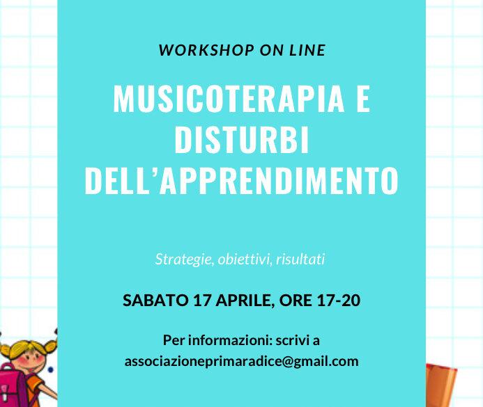 Nuova edizione del workshop Musicoterapia e DSA