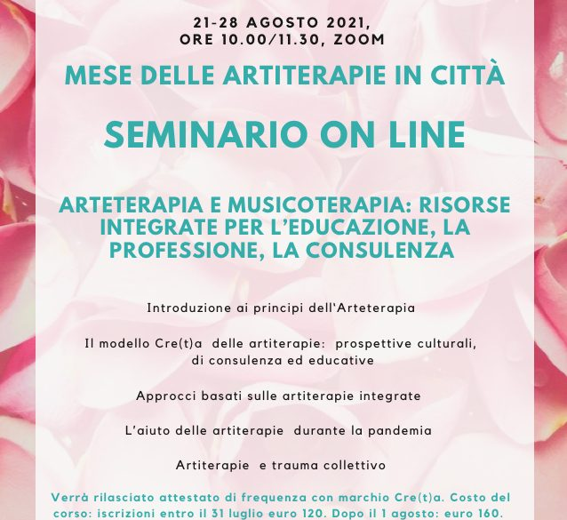 Seminario on line Artiterapie
